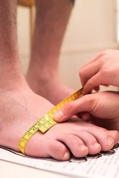 Füße vermessen