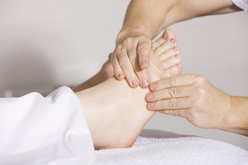 Physiotherapie zur Fersensportn-Therapie